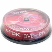 Диски DVD+RW TDK 4.7Gb 4x CakeBox 10шт (5243)