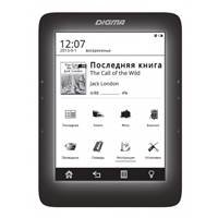 Электронная книга Digma S676 6  E-Ink Carta 1024x758 Touch Screen 600MHz 128Mb/4Gb/microSDHC/frontli